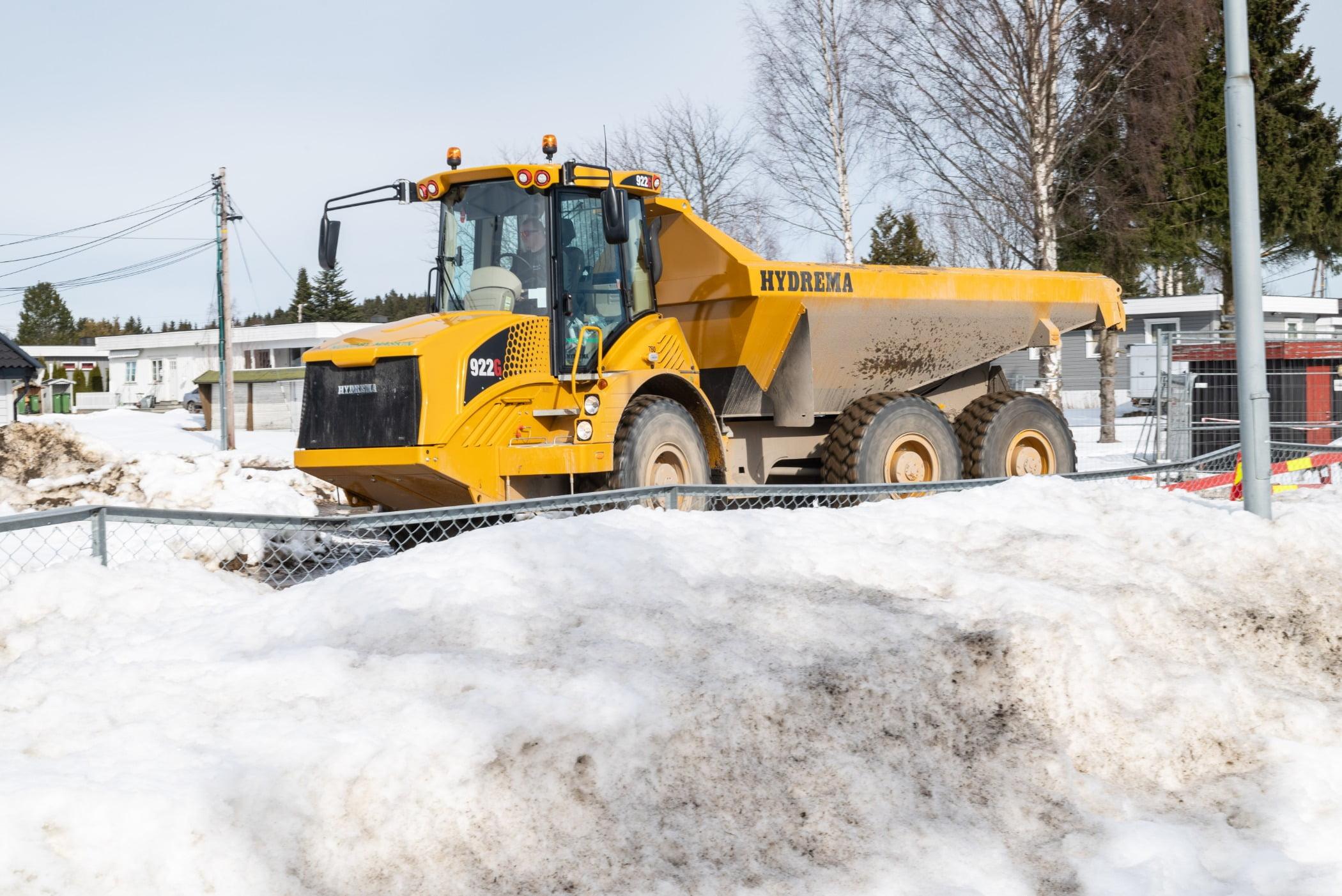 Automotive tire, Road surface, Motor vehicle, Wheel, Sky, Snowplow, Snow, Tree