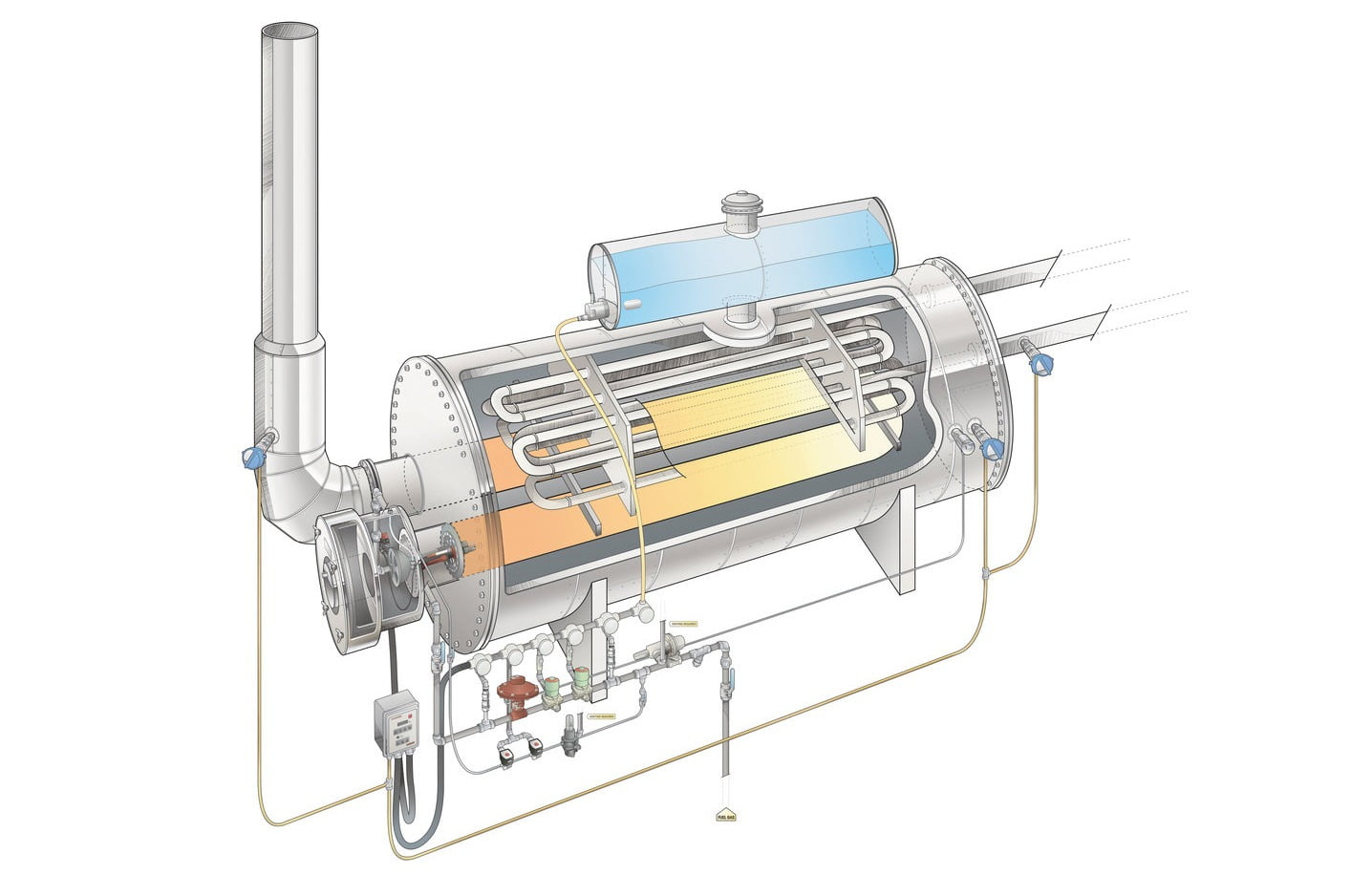 Profire Energy Line Heater Illustration