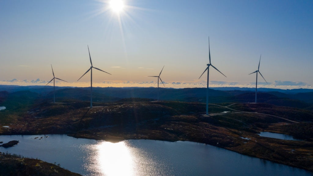 Coastal and oceanic landforms, Body of water, Wind turbine, Natural landscape, Daytime, Nature