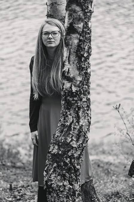 Long hair, Monochrome photography, Fashion, Eyewear, Standing, Beauty, Tree, Black-and-white, Black, Photograph