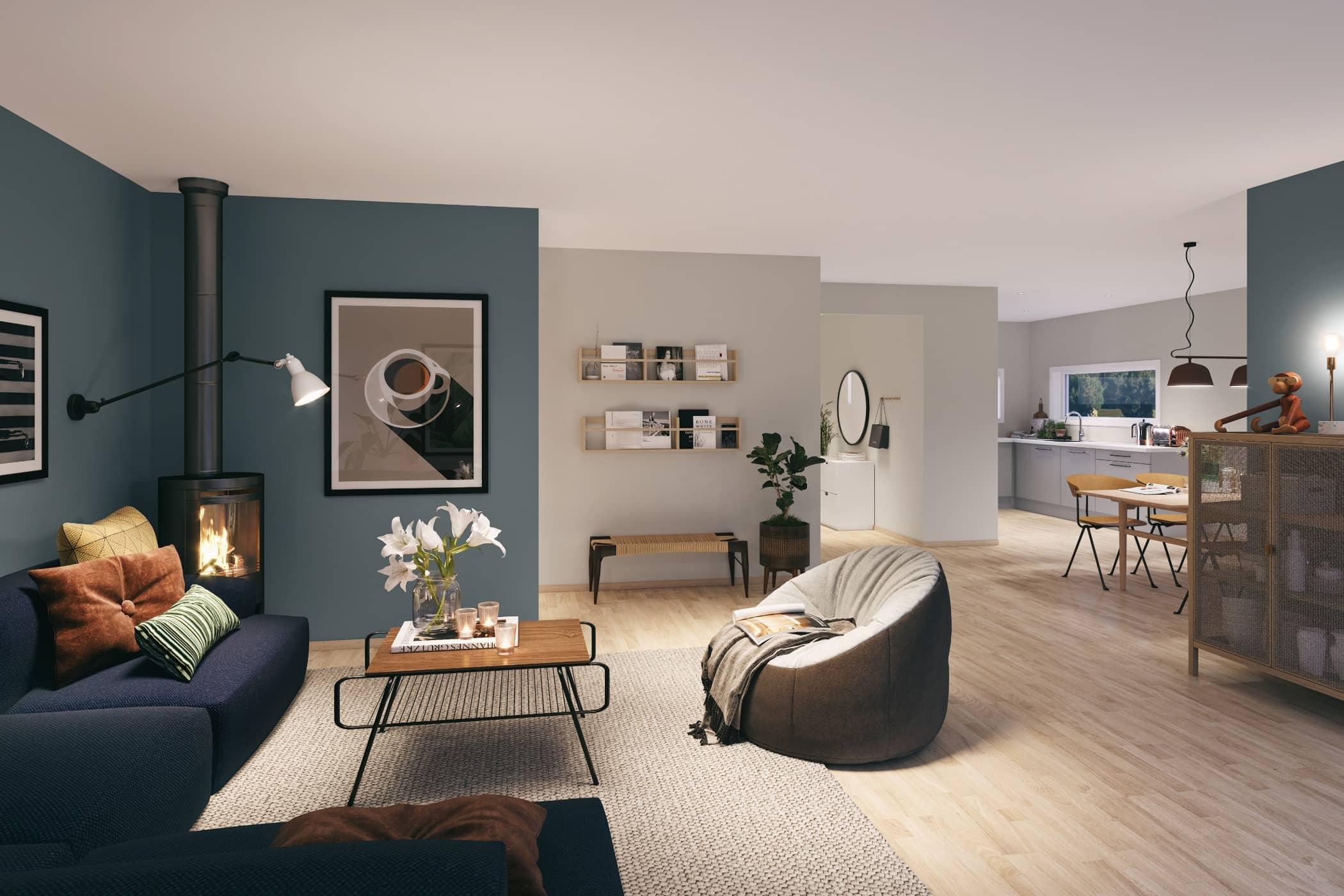 Interior design, Living room, House, Table, Floor, Building, Property, Furniture