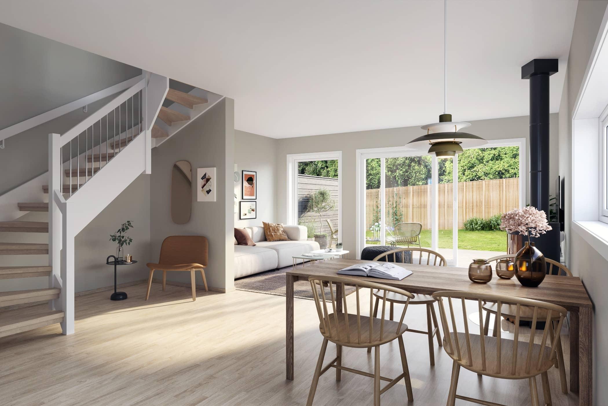 Wood flooring, Interior design, Home, Floor, Ceiling, House, Building, Property, Furniture, Room