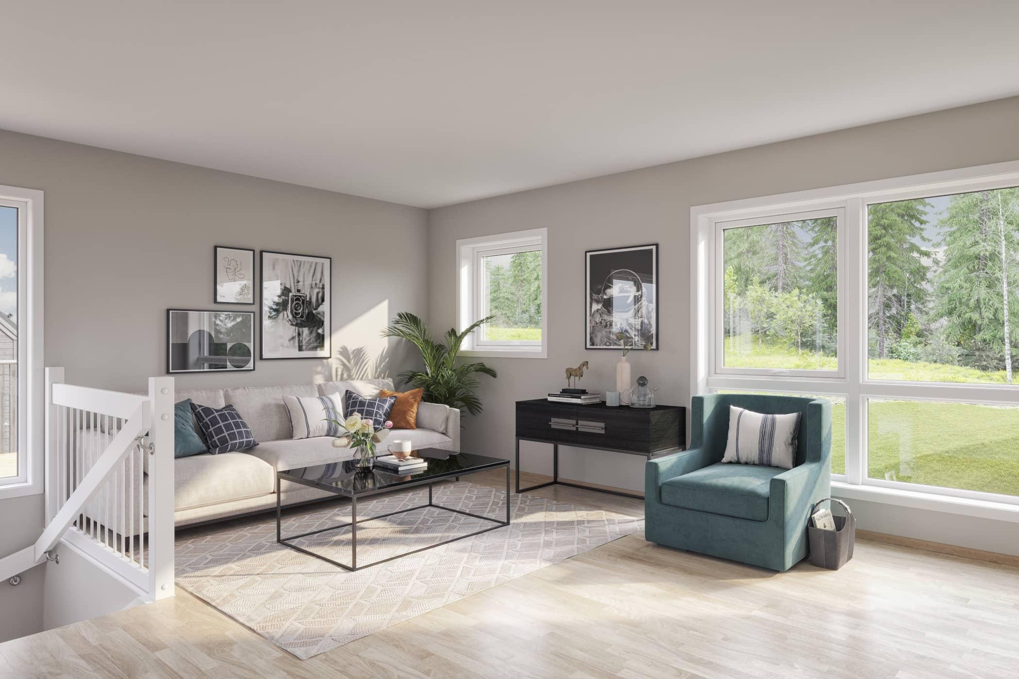 Laminate flooring, Interior design, Living room, House, Home, Floor, Building, Property, Furniture