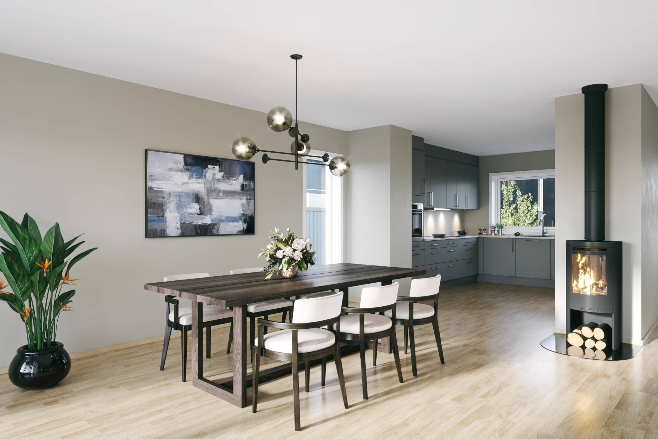 Living room, Interior design, Ceiling, Table, Building, Floor, Property, Furniture