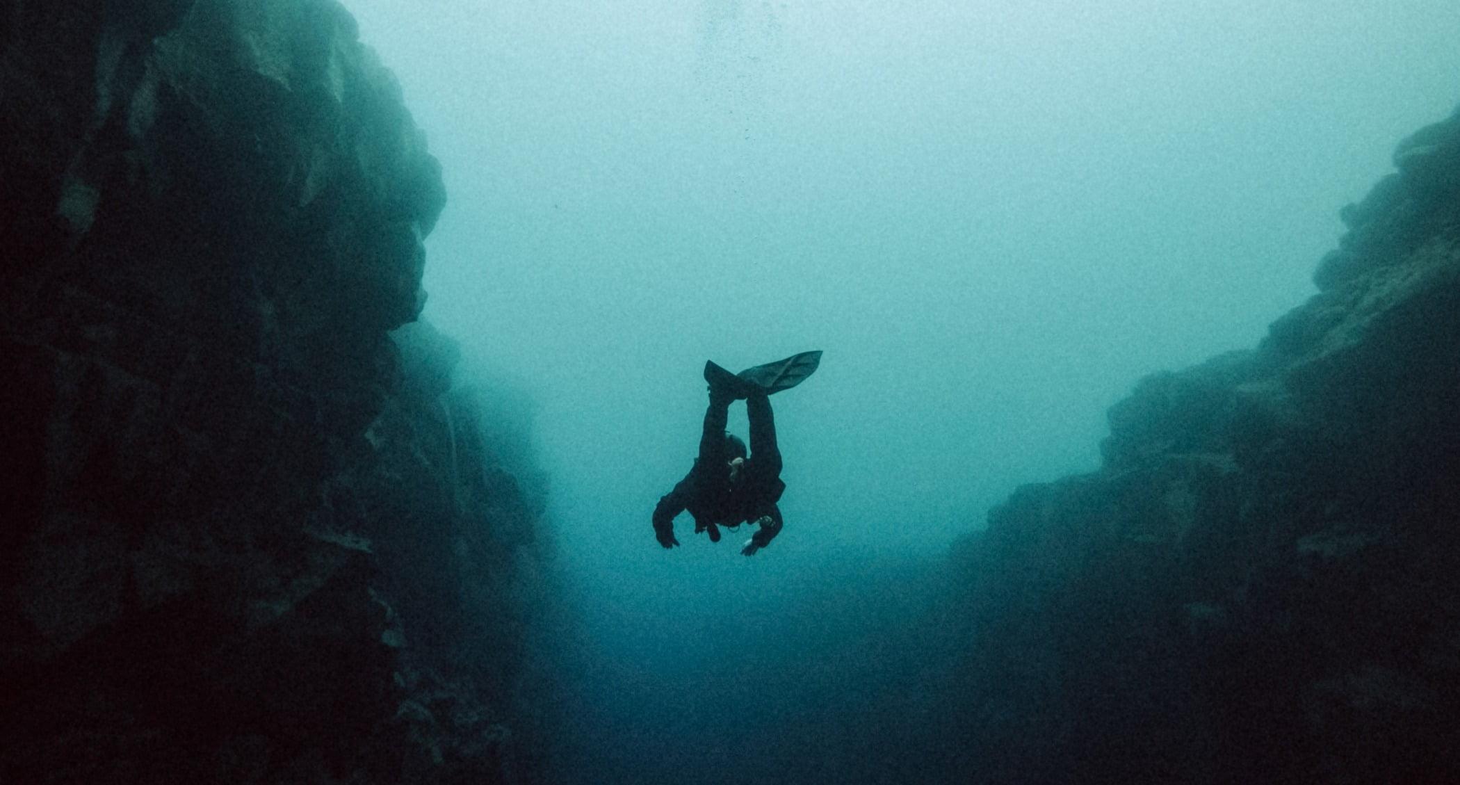 Scuba diving, Dry suit, Buoyancy compensator, Water, Divemaster, Underwater, Fluid, Organism