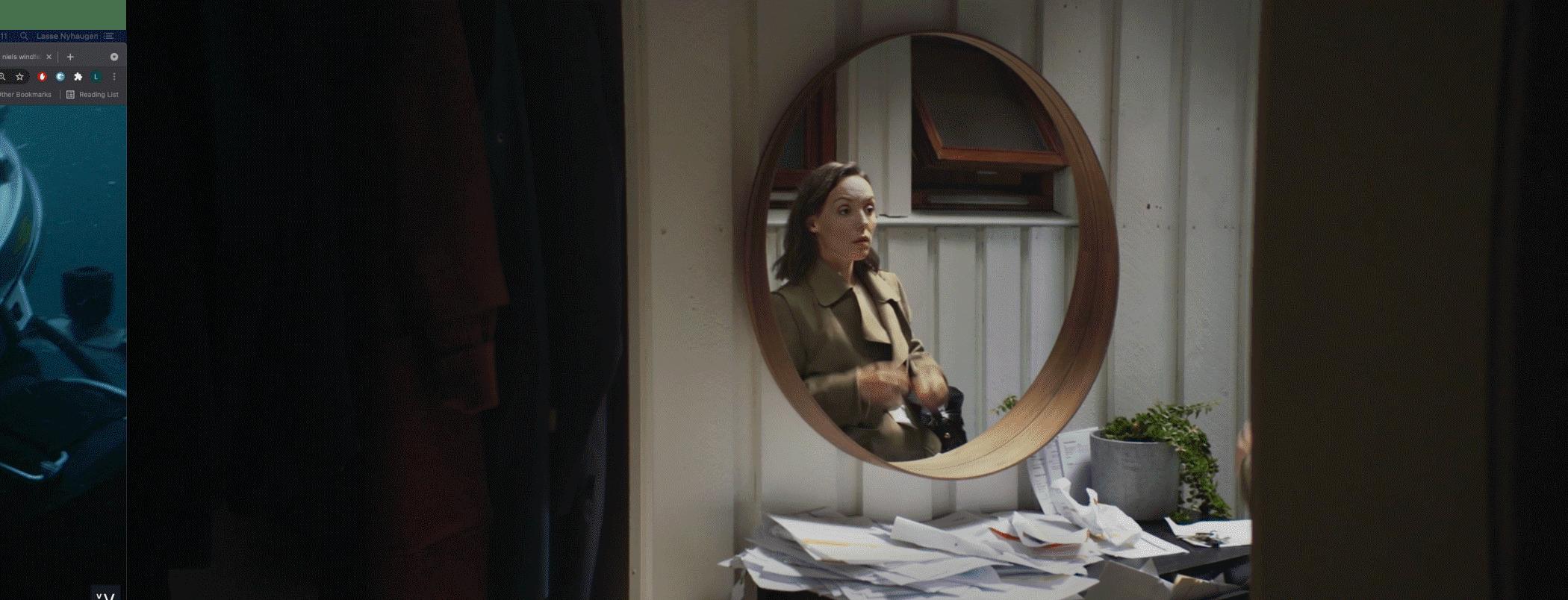 Mirror, Window, Wood