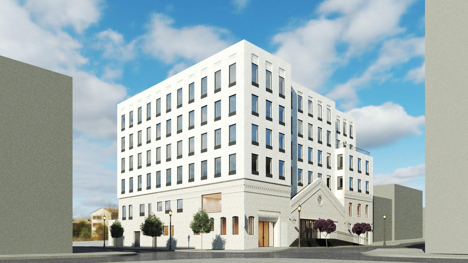 Urban design, Tower block, Cloud, Sky, Building, Property, Window, Condominium, Neighbourhood, Rectangle