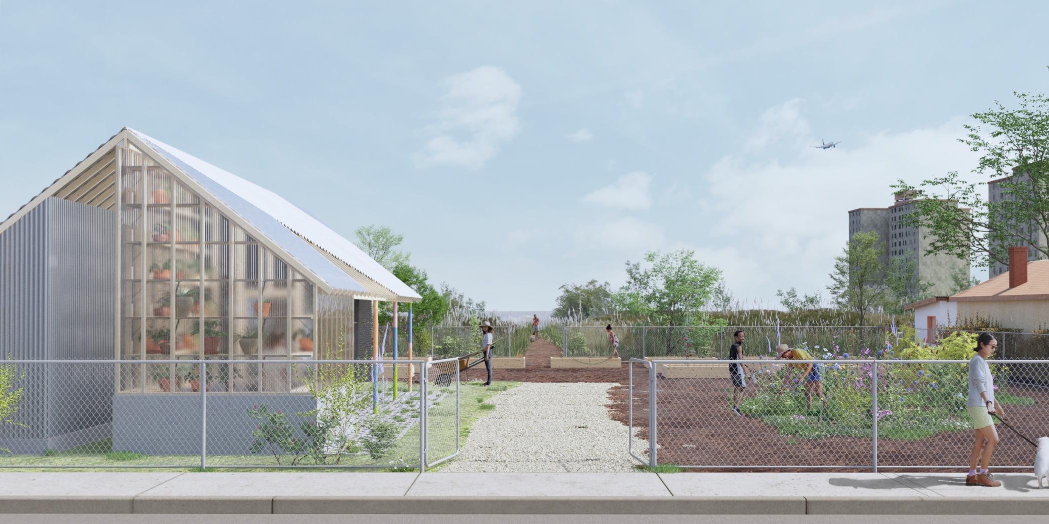 Land lot, Urban design, Road surface, Cloud, Sky, Plant, Building, Tree