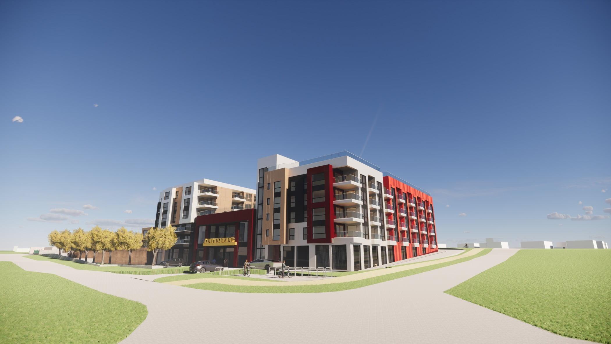 Land lot, Urban design, Sky, Daytime, Plant, Building, Tree