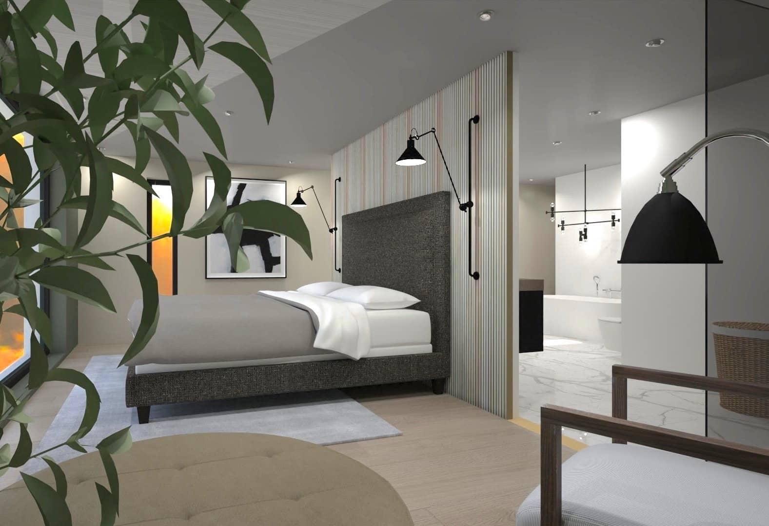 Interior design, Bed, Building, Bedroom, Property, Furniture, Room