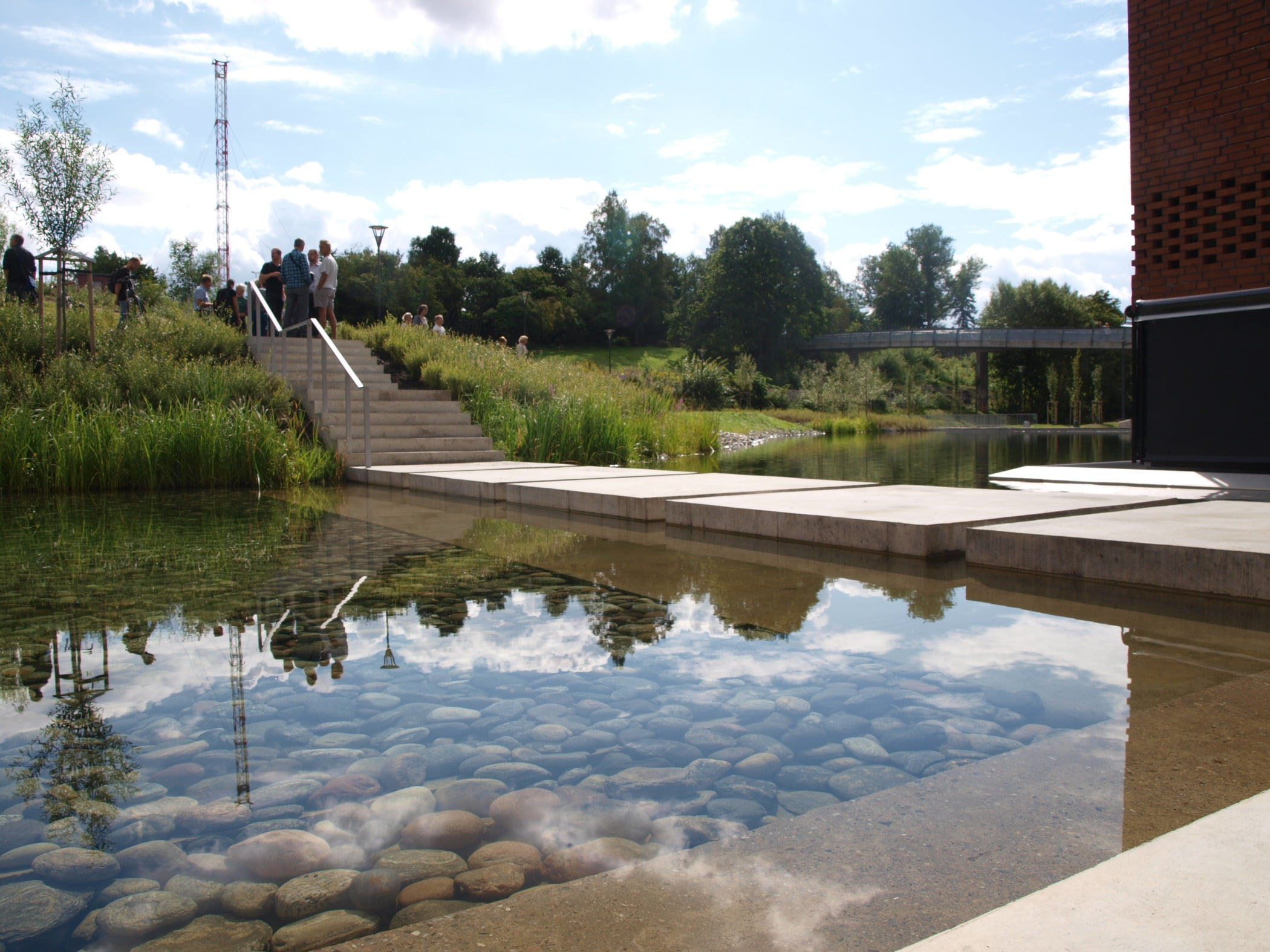 Composite material, Pond, Reflection