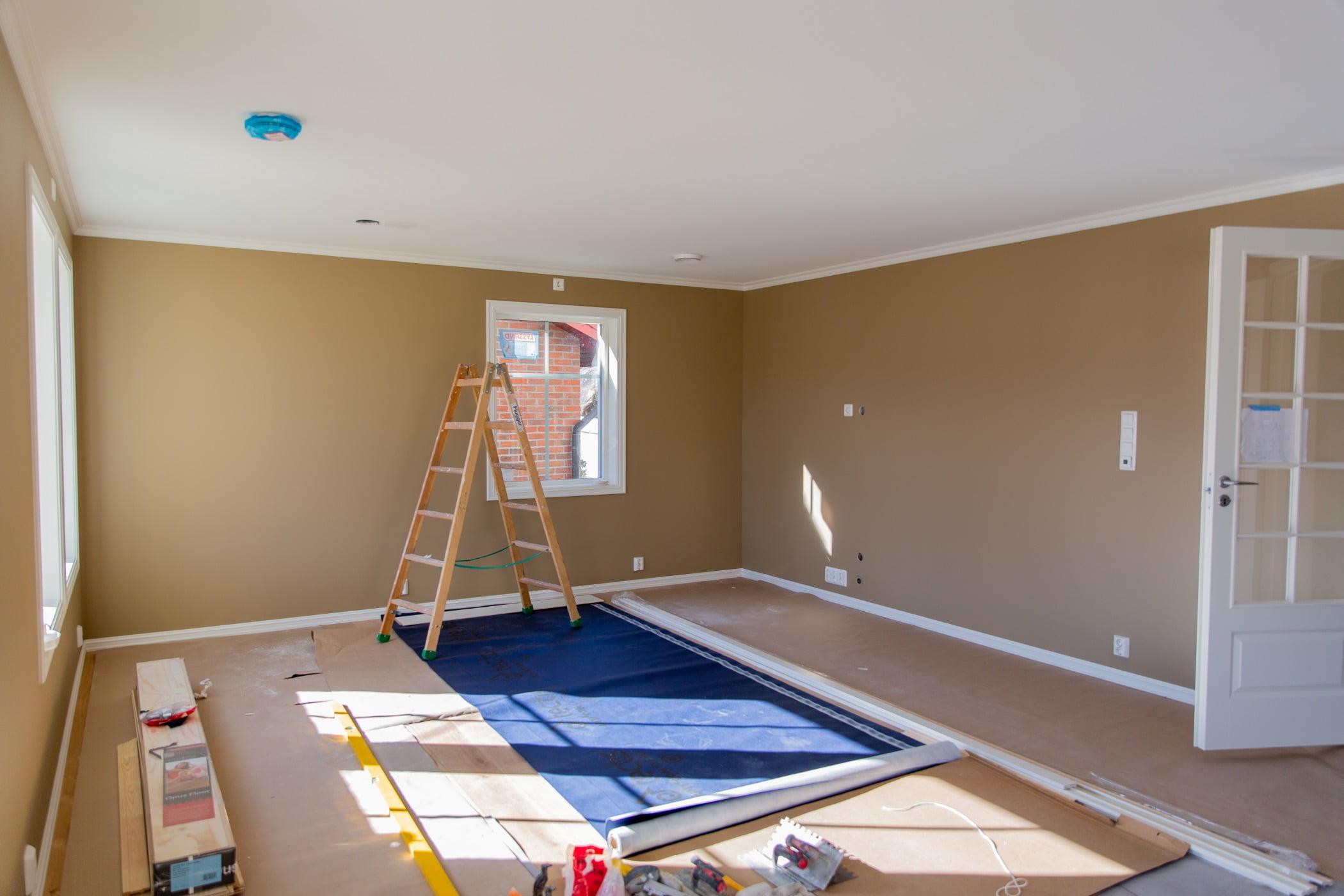 Interior design, Property, Fixture, Paint, Wood, Window, Lighting, Flooring, Floor, Wall