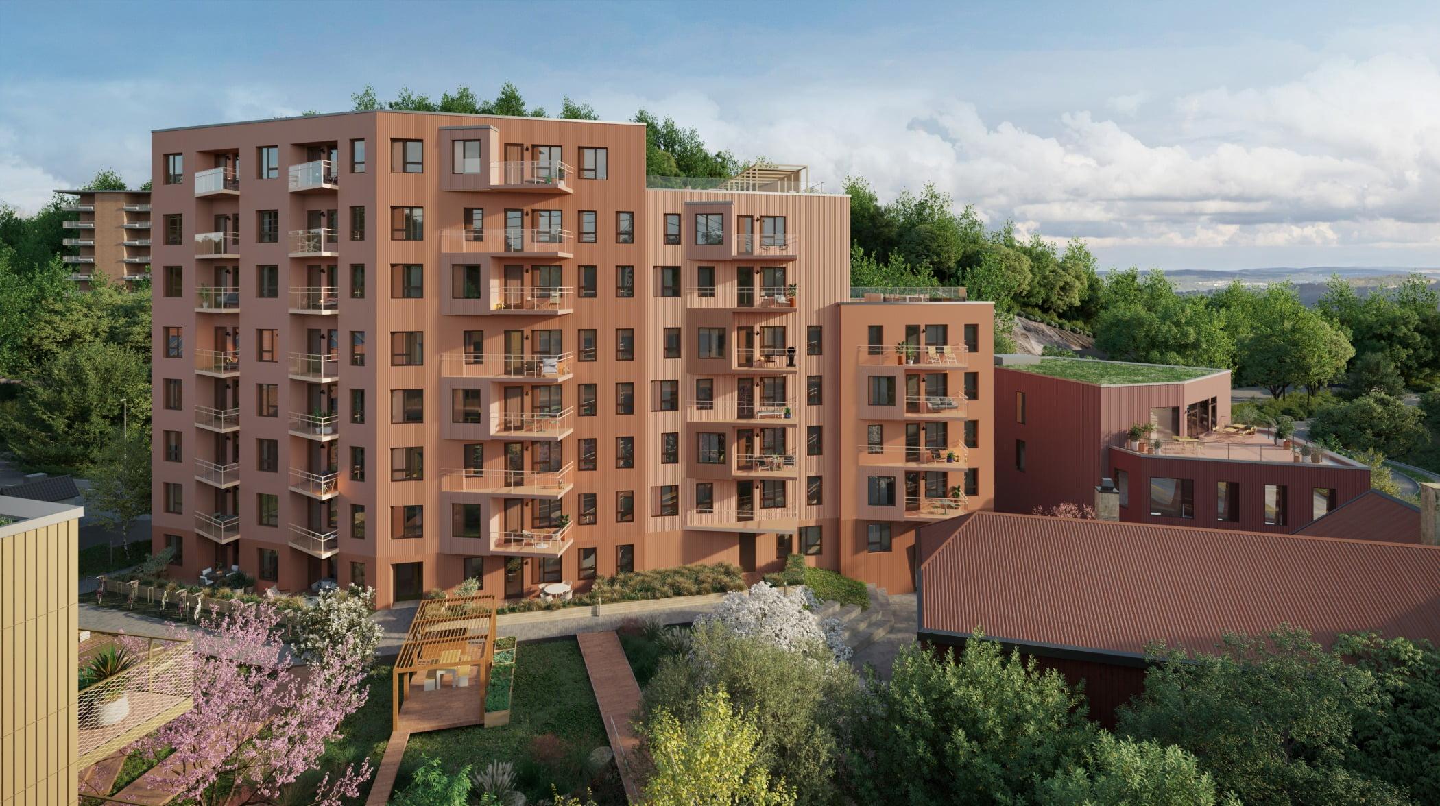 Tower block, Land lot, Cloud, Building, Sky, Plant, Tree, Window, Architecture, Vegetation