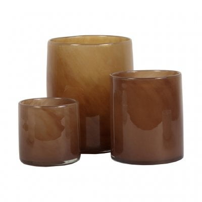 Flameless candle, Cylinder, Brown, Lighting