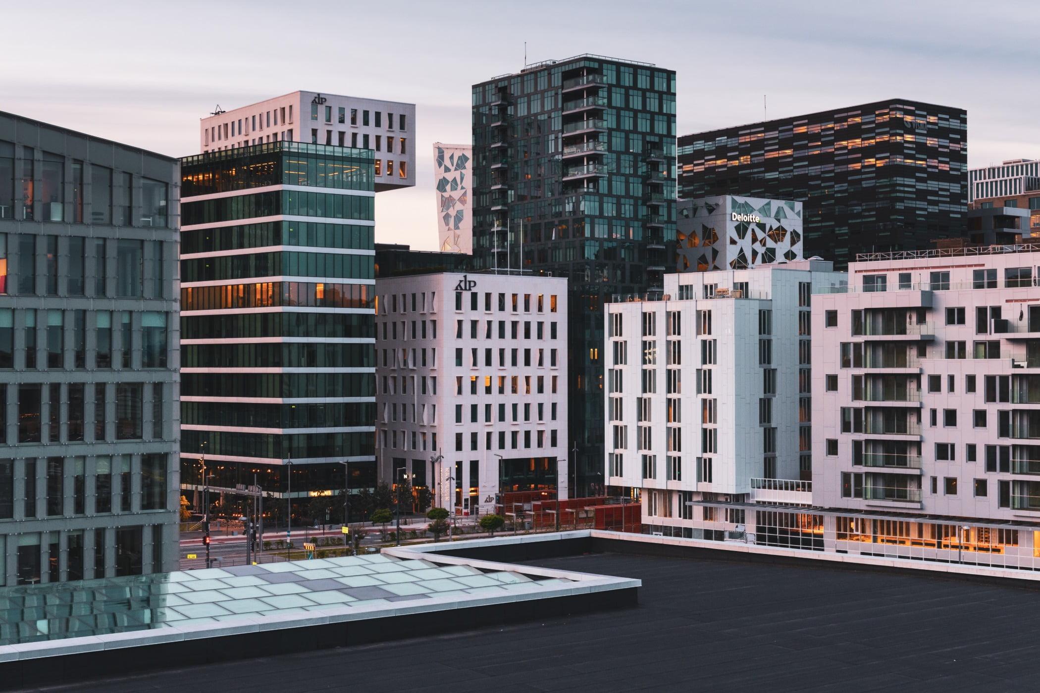 Business quarter in Oslo.